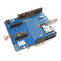 Arduino совместимая плата xbee для беспроводной экран SD с SD слот