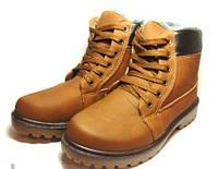 Ботинки зимние на меху под Timberland (Brown)