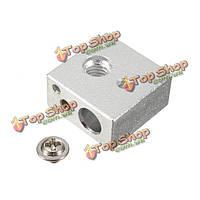 Алюминий 3d принтер головка сопла нагревательный блок взрывных работ для окисления M6 винт сопла поток