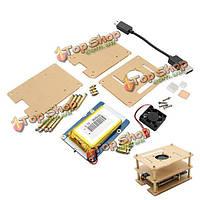 4в1  лития расширение батареи платы + V35 акриловая коробка + Pi вентилятор + комплект для радиатора Raspberry Пи