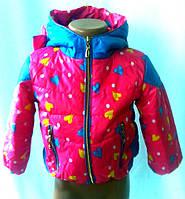 """Куртка детская """"Ушки""""-2 для девочек от 2 до 5лет( 86-104)"""