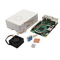 Деталь корпуса + алюминиевый радиатор медный радиатор + Raspberry комплект вентилятор охлаждения мини Model B + белый ABS 4 в 1 ABS пи 3