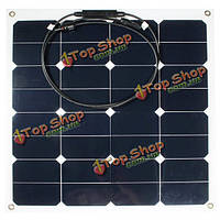 12v 50Вт монокристаллический Полуэластичное панель солнечной батареи зарядное устройство для с.в. лодки умный автомобиль