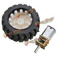 6v n20 микро мотор-редуктор с резиновым колесом для робота шикарной машине