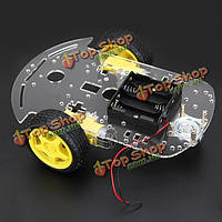 Режимы 2WD смарт шасси автомобиля отслеживание автомобиля с шифратором батарея коробка для Arduino
