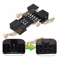 От 10 до 6-контактный стандартный адаптер конвертер для блока AVRISP USBasp stk500 чип