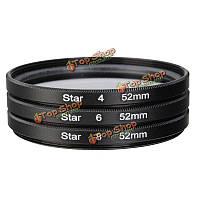 3шт 52мм 4point 6piont 8point звезда объектив фильтр линии линзы точка фильтр для цифровой зеркальной фотокамеры Canon Никон