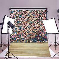 1.5x2.1m 5x7ft красивый цветок стены студия винил фотографии фон
