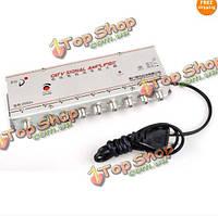 8 портов с кабельными каналами цифрового сигнала усилитель-разветвитель усилитель