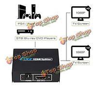 1080p 1х2 разделить 1 в 2 из переключателя HDCP Переключатель HDMI усилитель двойного дисплея для HDTV DVD PlayStation 3 PS3 Xbox