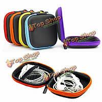 6 цветов банковская книжка карманного Ева наушники наушники случай SD карта Micro-USB кабель пакет