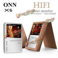 ONN X6 8Гб без потерь HiFi MP3 24bit/192kHz двойной бас динамик TFT экран APE/FLAC/WAV/WMA/OGG/MP3