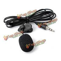Ошейник мини 3.5 мм галстука отворотом петличный петличный микрофон для лекций преподавания