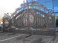 Кованые ворота+калитка