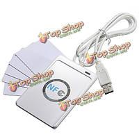 Технология NFC acr122u RFID бесконтактных считыватель смарт + 5шт формата mifare IC карты