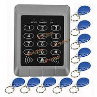 Обеспеченностью RFID-ридер входной двери блокировки клавиатуры система контроля доступа+10 ключей шт