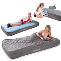 Надувная кровать со встроенным электронасосом Intex 193х91х25 см (66998)