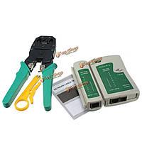 RJ45 и RJ11 и rj12 кабель cat5 сети LAN кабельный тестер набор инструментов обжимные щипцы плоскогубцы