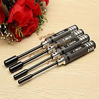 4шт металлические 4.0/5.5/7.0/8.0мм шестнадцатеричный инструменты гайка ключевых сокета винт драйвер ключ набор отверток