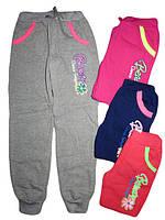 Утеплённые спортивные брюки для девочек, размеры 116,146, арт. AD-634