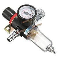 AFR-2000 1/4-дюйма воздушный компрессор фильтр водоотделитель ловушка для инструментов с регулятором датчика
