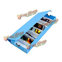 8 сеток очковые солнцезащитные очки очки ювелирные изделия лоток отображения ящик для хранения  показывая дело