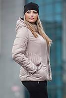 Модная женская  демисезонная куртка с контрастной отделкой