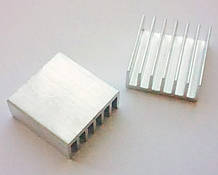 Радиатор алюминиевый 14*14*5 мм. 1 шт.