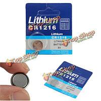 Cr1216 3V кнопки батареи клетки монетки лития для вахты калькулятор электронные весы