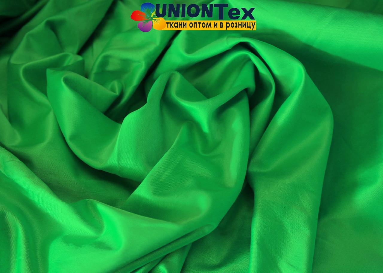 Атлас коттон зеленый