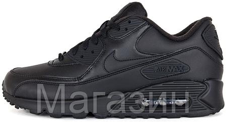 Мужские кроссовки Nike Air Max 90 Найк Аир Макс 90 черные, фото 2