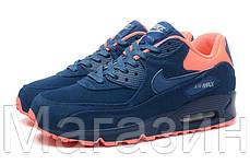Мужские кроссовки Nike Air Max 90 Premium, найк аир макс 90 синие, фото 2