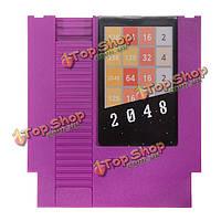 2048 72 контактный 8бит карточная игра картридж для NES Нинтендо