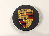 Заглушки колпачки литых дисков Porsche чёрные