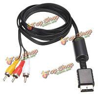 Аудио видео AV-кабель провод до 3 RCA ТВ свинца для сони плейстейшен пс2 пс3