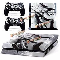 Кожи наклейка для PS4 PlayStation 4 консоли и 2 контроллера протектора кожи