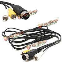 Сега мега драйв МД 1 разъемы RCA AV аудио-видео вести/V ТВ кабель
