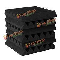 6шт 300 * 300 * 50мм треугольник изоляции уменьшить шум губки пены хлопка