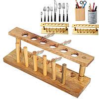 Пробирка стоят деревянные 6 отверстие сушилка лабораторного оборудования бюретки стенд