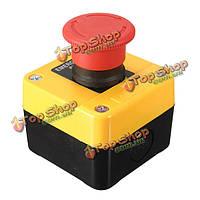 Кнопка аварийного останова водонепроницаемый 660V 10A красный знак переключатель