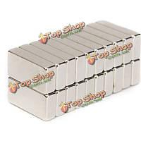 20шт N50 сильный блок NdFeB магниты 20 x10x 5мм редкоземельные магниты неодим