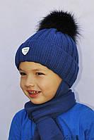 Модная зимняя шапочка на флисе и шарф Agbo . Польша