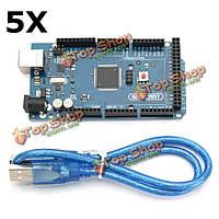 5шт mega2560 R3 atmega2560-16au плата управления с USB-кабель для Arduino