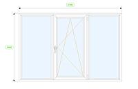 Окно 2100*1400 S400 трехстворчатое поворотно-откидное