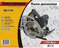 Электропила дисковая Электромаш ПД-1700/185