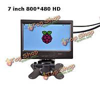 7-дюймов HD экран 800*480 HDMI разъем + разъем VGA + AV-сигнала монитор для Raspberry пи