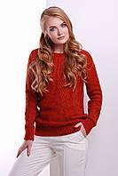 Жіночий вовняний светр червоного кольору