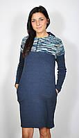 Платье для беременных трикотажное с капюшоном