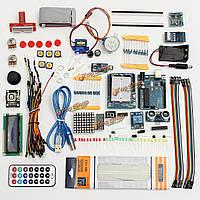 UNO R3 Стартовый набор для Arduino 1602 ультразвуковым мотором жк серво LED реле РТЦ