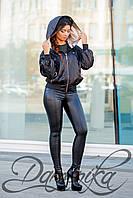 Стильная курточка-ветровка Fabio черного цвета с  капюшоном